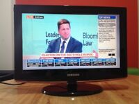 Samsung 19 inch HD LCD TV Built-in Freeview, perfect condition
