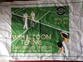 Wimbledon tea towel from London Transport Museum