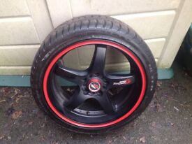 Alloys for Skoda Fabia Vrs shod with winter tyres.