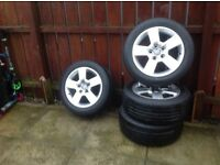 "4x16"" Audi/ VW Alloys and tyres"