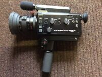 Elmo Super 8 Sound 612S-XL Macro Video Camera + Miranda Pro Video 1 Tripod
