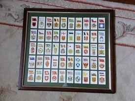 John player cigarette cards flags