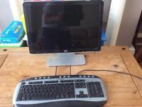 HP monitor and keyboard