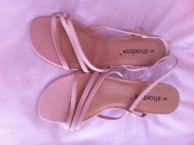 Ladies strappy cream sandals size 6.