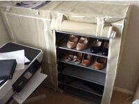 Canvas shoe rack