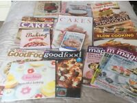 Baking and cooking recipe books and mags