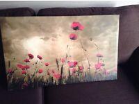 Winter poppy canvas