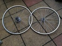 Pair of stainless steel wheels 26x1 3/8 wheels