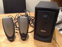 DELL 2.1 multimedia speaker system - £35 ono- fantastic sound quality!
