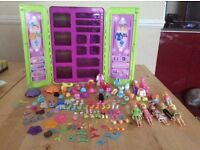 Polly Pocket Collection - Wardrobe, Car, Dolls & Accessories