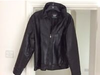 BRAND NEW amens leather jacket large