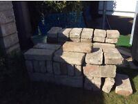 Used concrete breeze blocks