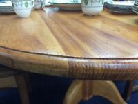 7ft OVAL PINE DINING TABLE