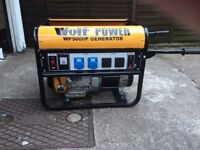 Wolf 5kw petrol generator in very good condition