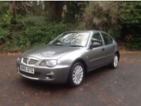 2005/05 ROVER 25 1.4 SE 5DR ONLY 43000 MLS FSH LEATHER MET GREY
