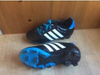 Boys or girls football boots adidas size 12 worn once