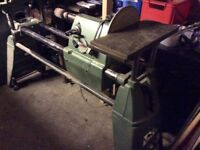 Multico multi purpose wood lathe, circular saw, disc sander and other extras