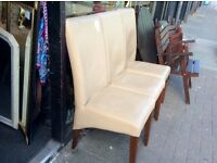 Reduced 3 faux leather chairs