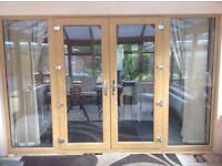 UPVC French Doors in Irish Oak - New