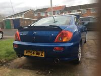 2004 2.0 Hyundai Coupe with only 65000 miles on the clock. Brand new MOT.