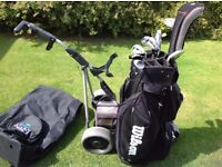Full Set Of Clubs + Electric Trolley