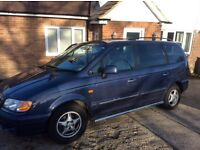 Superb Hyundai Trajet 2.0 litre 7 seats mot July. CAMBELT done
