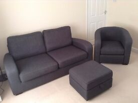 Priced Dropped: Three Piece Sofa Set from DFS: (Can sell separately) MUST GO