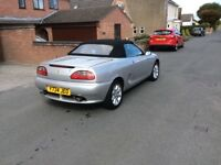 2001 MGF - Silver with Black Interior, 53K Miles in excellent condition, TO BE SOLD WITH OTS HARDTOP