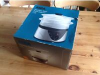 Unused ASDA electric food steamer as new condition, fully boxed