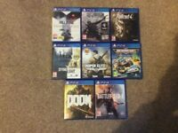 PS4 games for sale new & used see picture selling separately can do deals