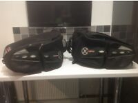 Pair of motorcycle panniers. Used only twice. Colour black