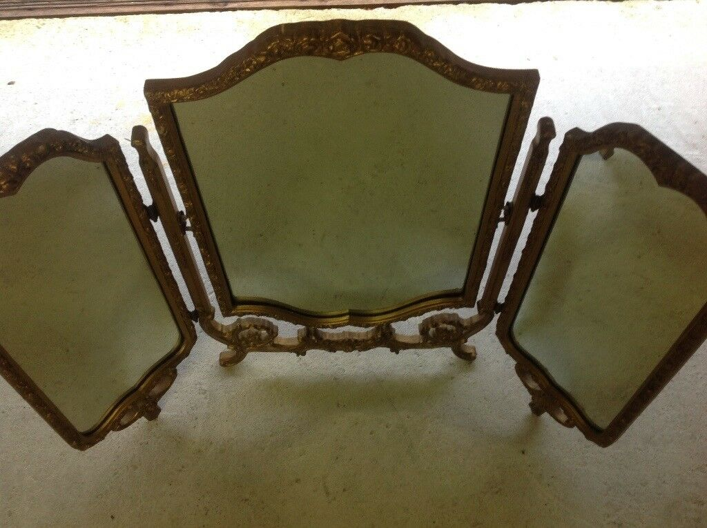 Early 20 s dressing table mirror free standing .