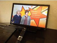 """TOSHIBA 24"""" 24W1633DB HD LED TV with ,built in Freeview,Excellent condition"""