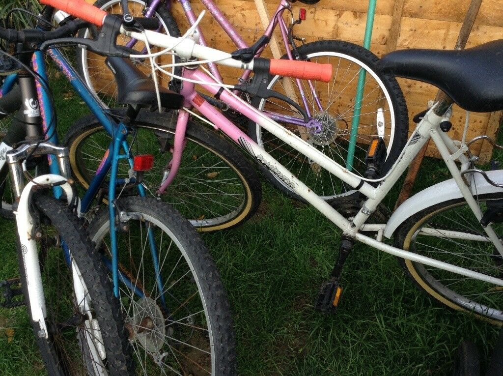 Ladies mountain bikes x 3 shed clearance bike parts