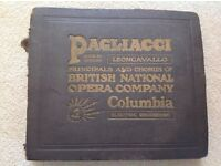 Pagliacci rare collection 12 records in book.