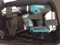 MAKITA HP457D 18V LI-ION CORDLESS COMBI DRILL WITH 2 X BATTERIES HARGER & SOFT CARRY CASE