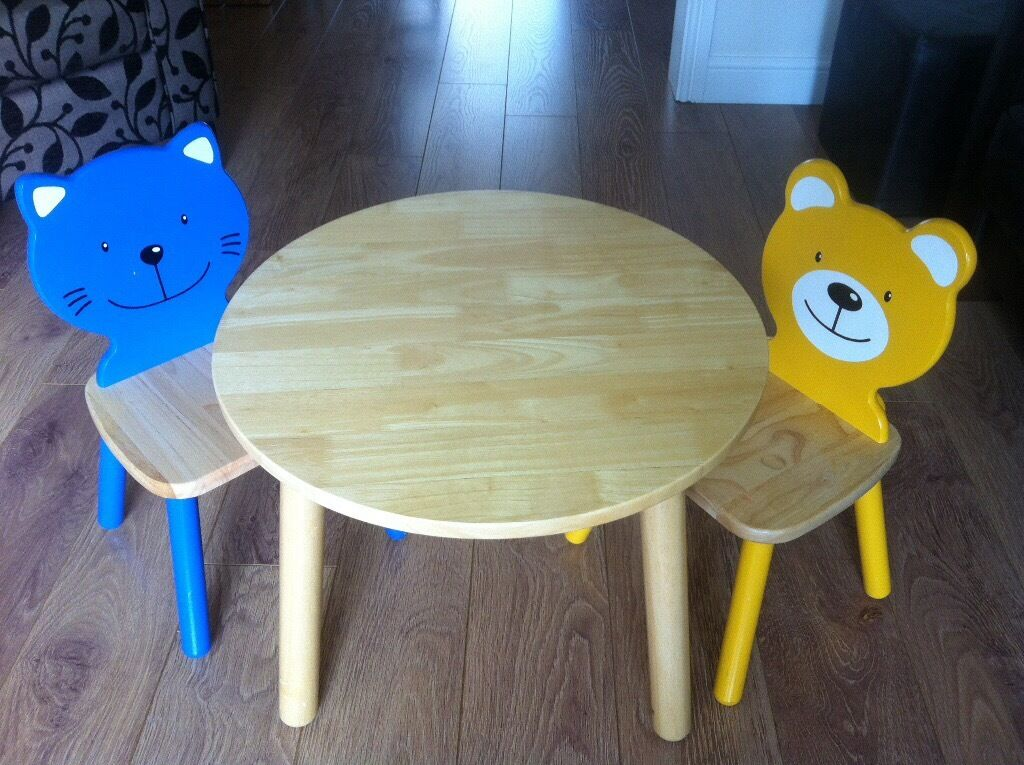 Pintoy Furniture round table with 2 character chairs and four ...