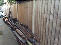 Free wood, used decking and sub frame wood