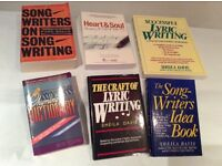 6 x Classic Songwriting Books - job lot (for singer, guitar, keyboard...)