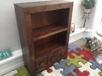 Coffee Table and Small Bookcase in Dark Oak