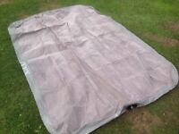 Blow up camping bed, warm soft flock topped
