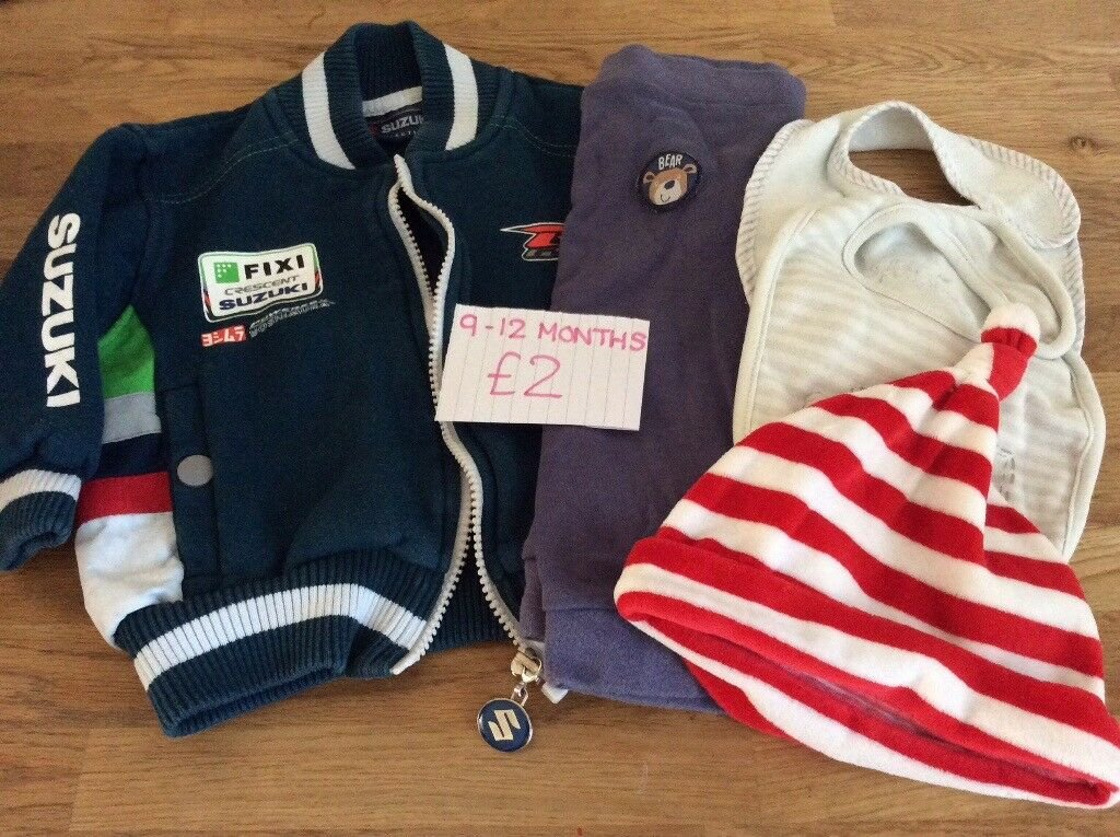 c72e8554a313 Bundle Of Baby Boy Clothes Size 9-12 Months