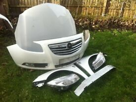 2011 Vauxhall Insignia Front End Assembly Bumper Bonnet Wing white