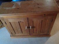 Pine shoe cuboard or storage cuboard