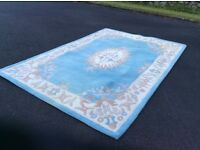 Blue and cream Chinese rug