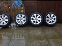 "4x17"" Audi B8 Alloys and good tyres"