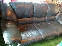 Free leather sofa and chair for collection only