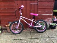 Girl's Apollo Roxy Bike - pink 16 inch, used suit girl age 5-7