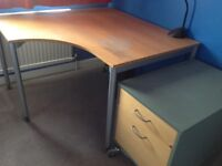 Office wooden corner desk