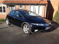 Honda Civic ES I-CTDI Diesel, glass roof, leather seats, low miles, service history, two owners